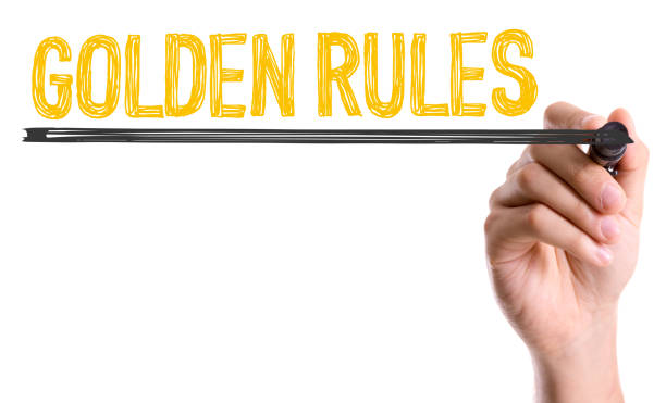 Golden Rules stock photo