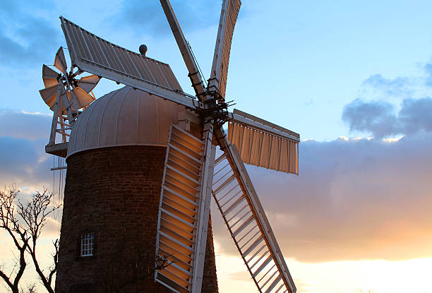 golden sails Heage windmill abjure stock pictures, royalty-free photos & images