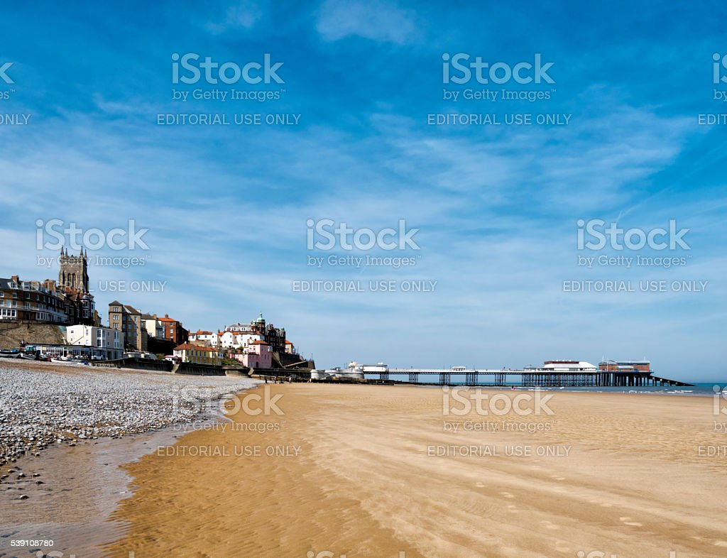 Golden sands at Cromer stock photo