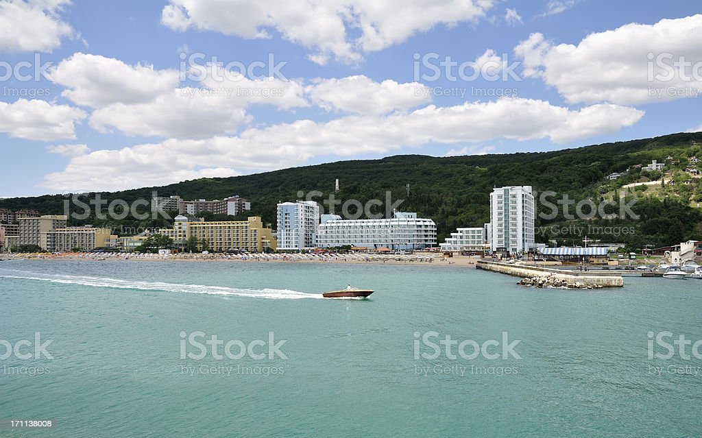 Golden Sands resort near Varna, Bulgaria stock photo