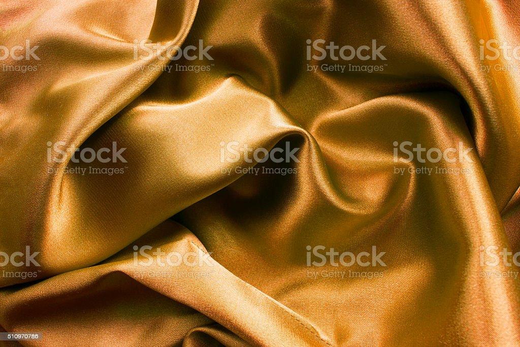 Cetim dourado - foto de acervo