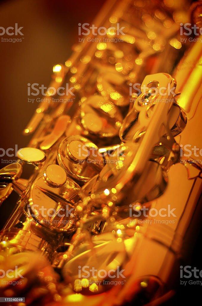 Golden sax royalty-free stock photo