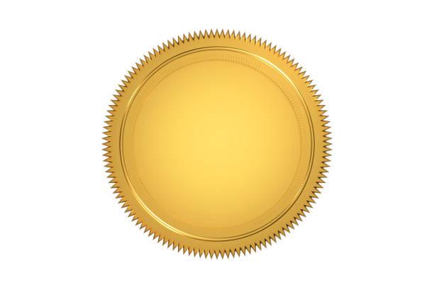 golden seal - badge foto e immagini stock
