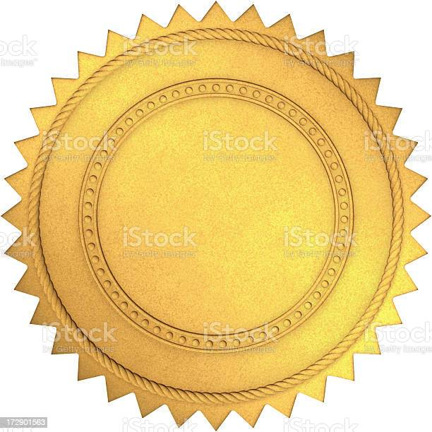 Golden Seal Stock Photo - Download Image Now