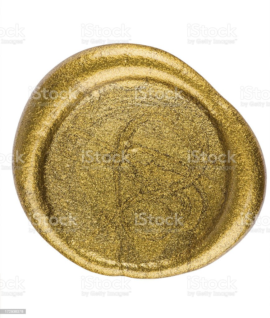 Golden seal royalty-free stock photo