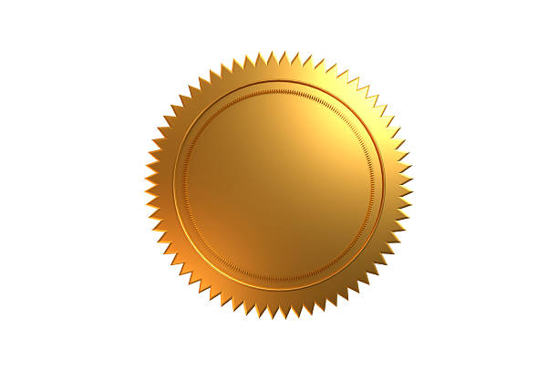 Golden Seal Golden Seal isolated on white background. insignia stock pictures, royalty-free photos & images