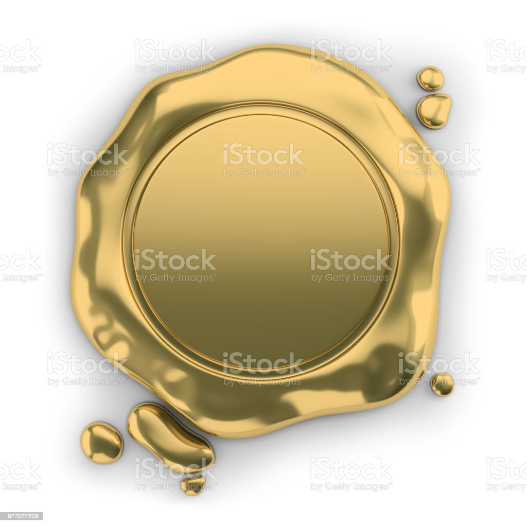 golden seal wax стоковое фото