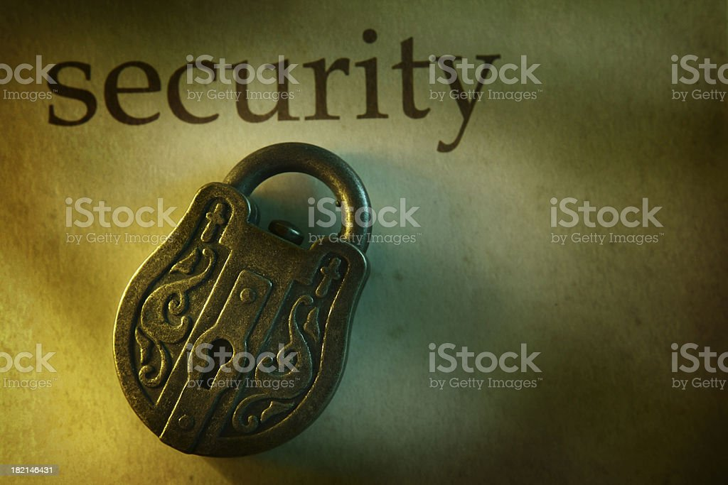 Golden Security royalty-free stock photo