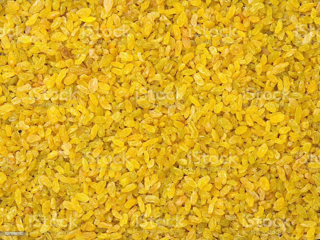 Golden seedless raisins. stock photo
