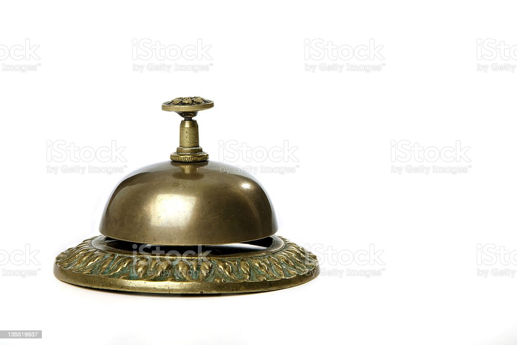 Golden service bell royalty-free stock photo