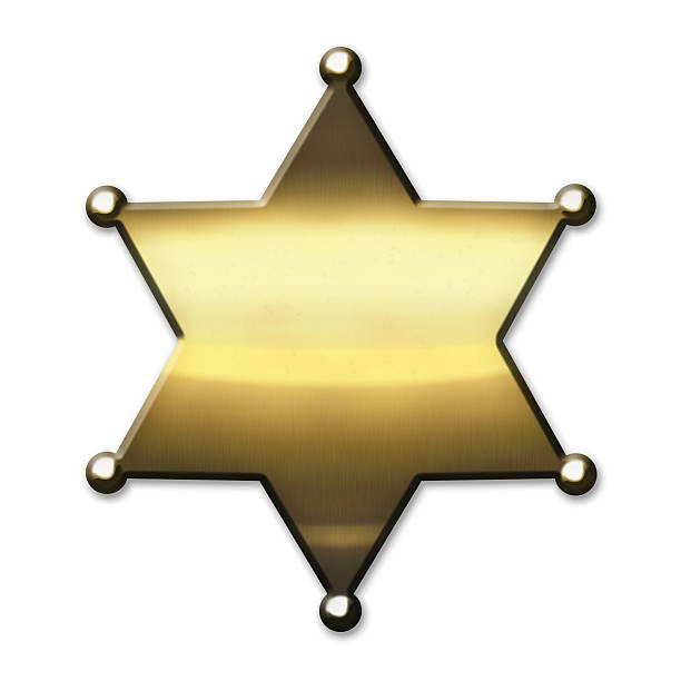 Golden Sheriff Badge stock photo