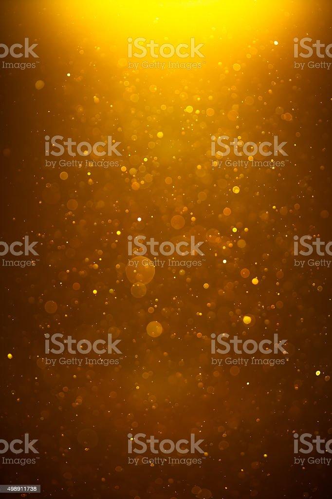 Dourado brilhante de bokeh de fundo - foto de acervo