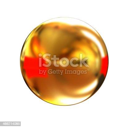 istock Golden Shiny button 466214085