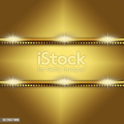 istock Golden shiny creativity background 922667986