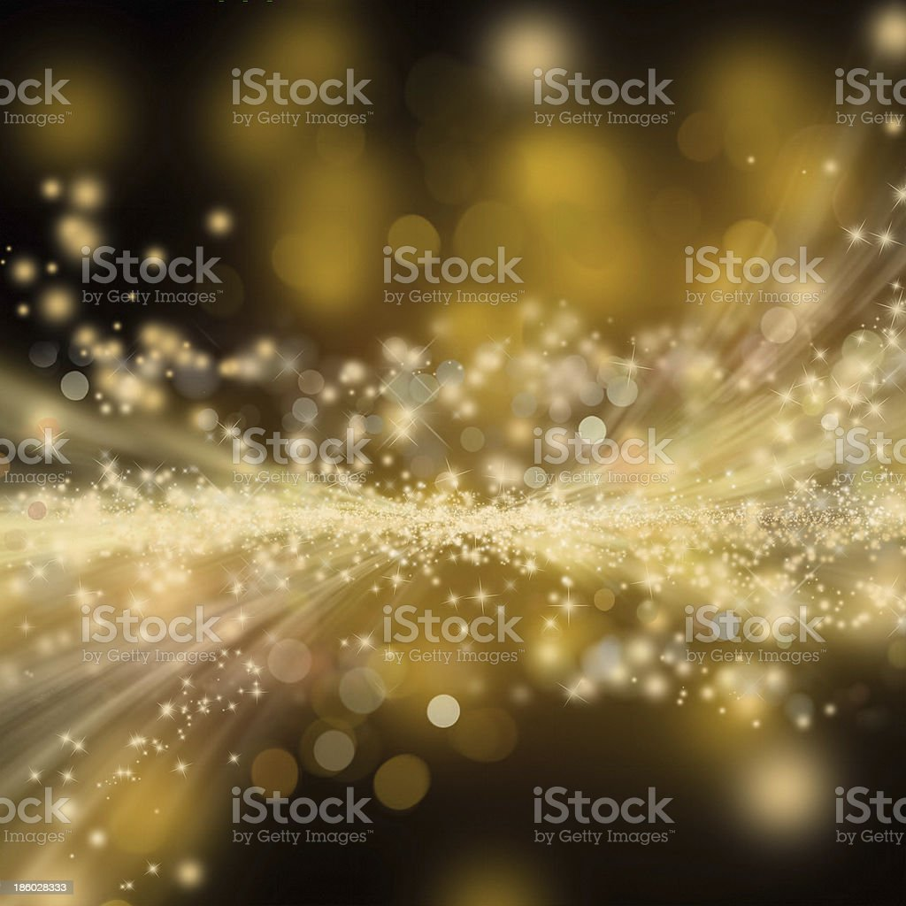 Golden shiny holiday background stock photo