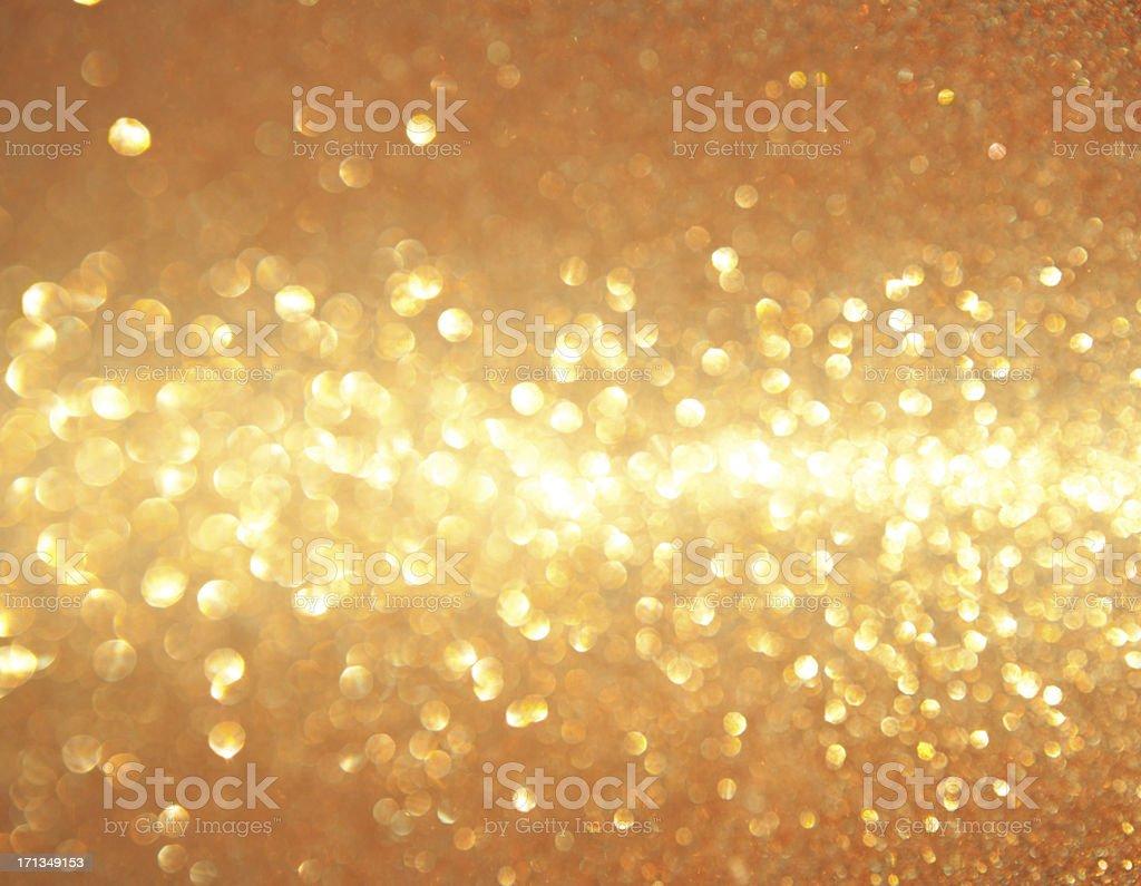 Ouro luzes brilhantes. - foto de acervo