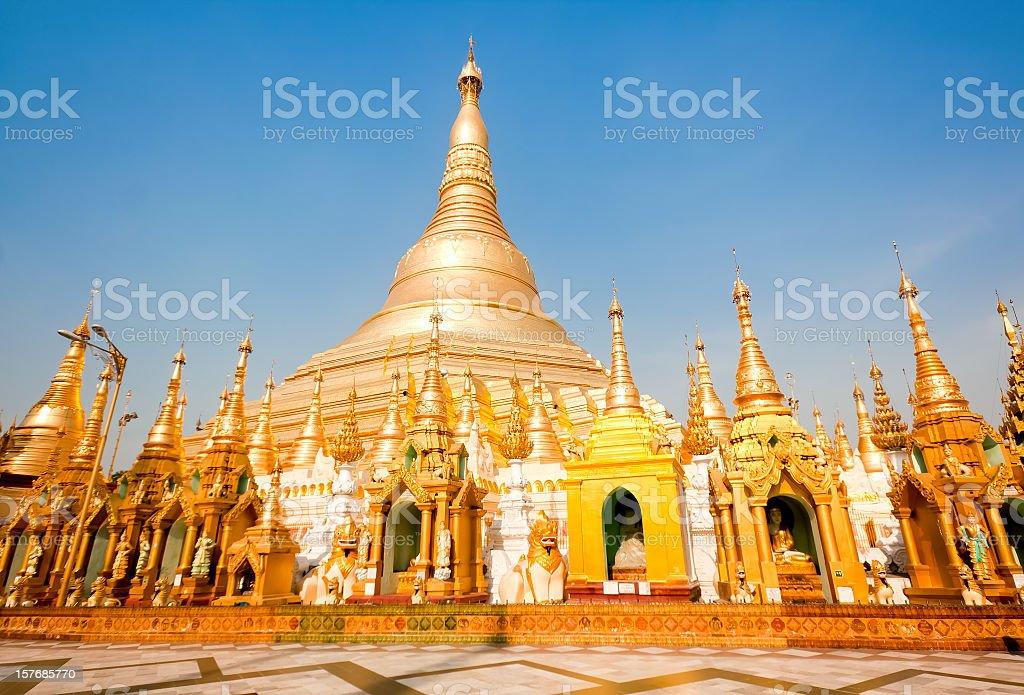 Golden Shwedagon Pagoda, Myanmar royalty-free stock photo
