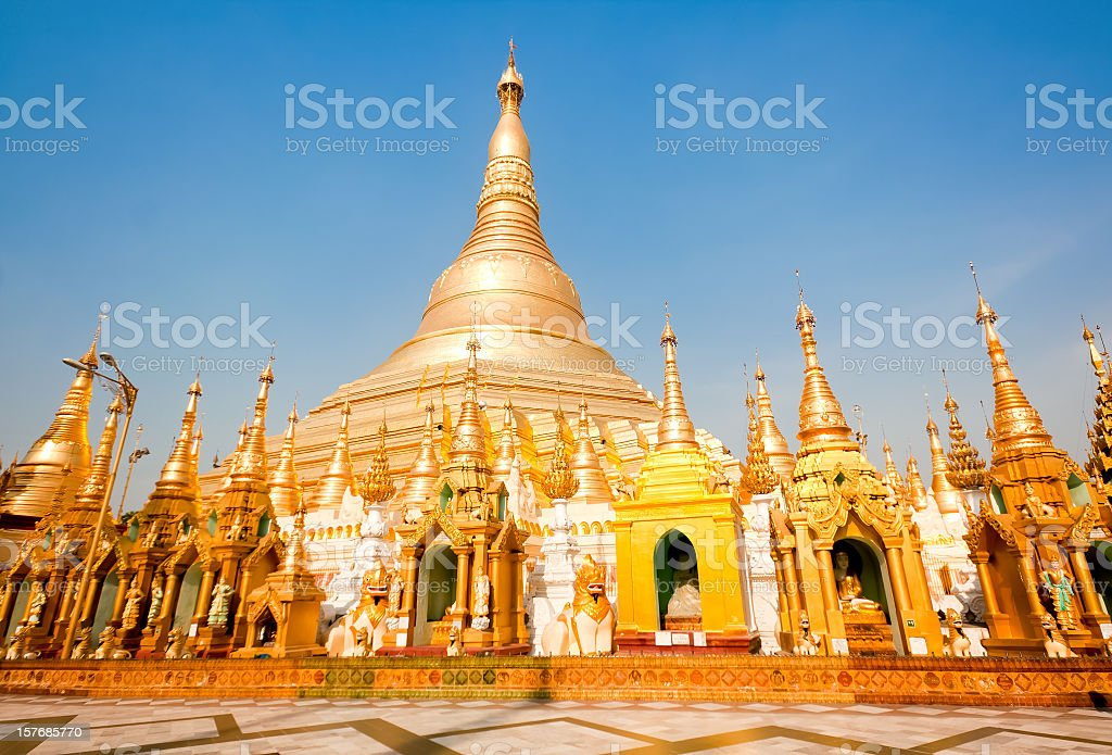 Golden Shwedagon Pagoda, Myanmar stock photo