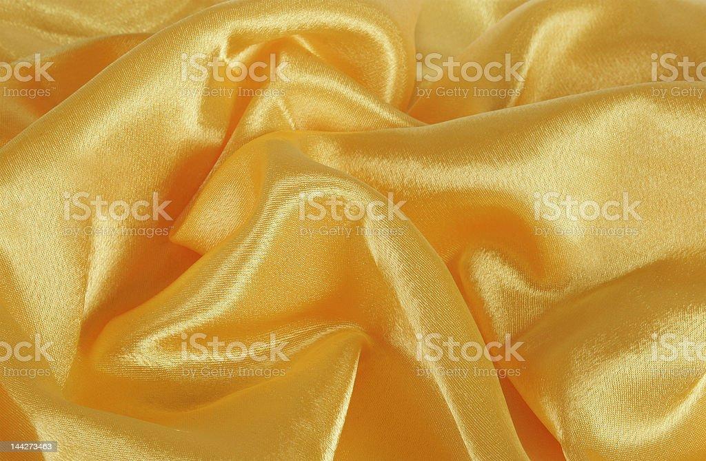 Golden silk royalty-free stock photo