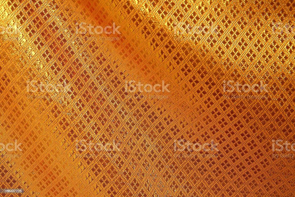 Textura de fundo de seda dourada - foto de acervo