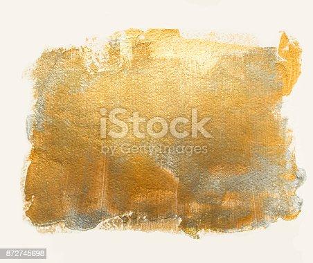 istock Golden silver acrylic background 872745698