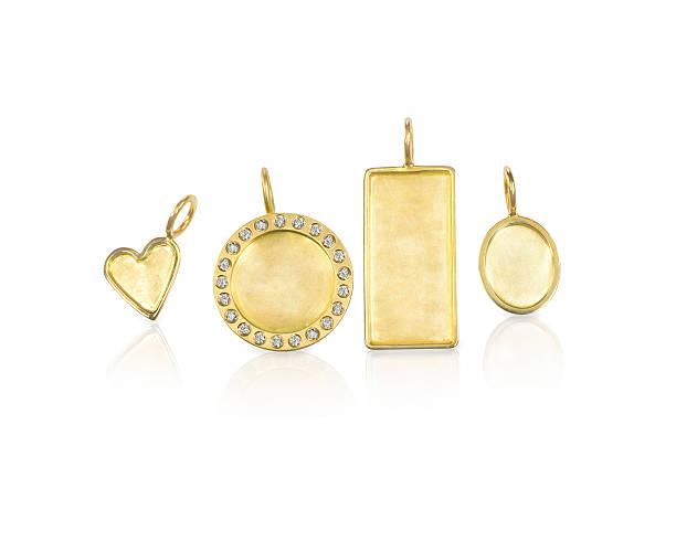 prata em branco ouro com diamantes pingentes lembrança nomes - porta retrato imagens e fotografias de stock