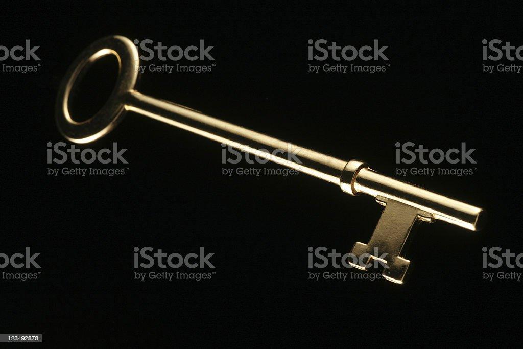 Golden Skeleton Key stock photo