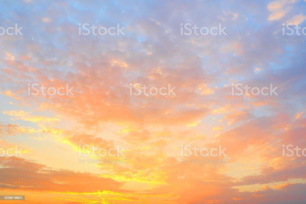 Golden sky background stock photo