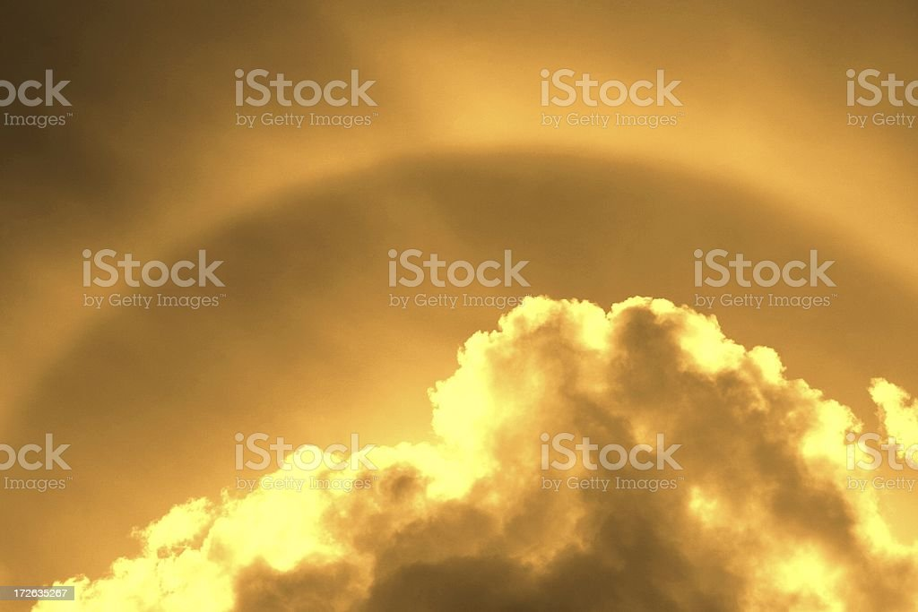 Golden Sky royalty-free stock photo