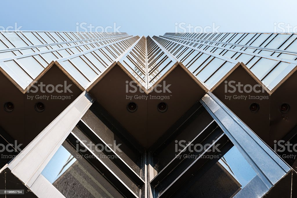 Golden Skyscraper in Toronto stock photo
