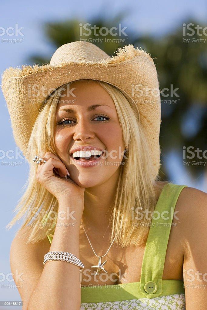 Golden Smile royalty-free stock photo