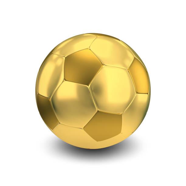 Cтоковое фото golden soccer ball