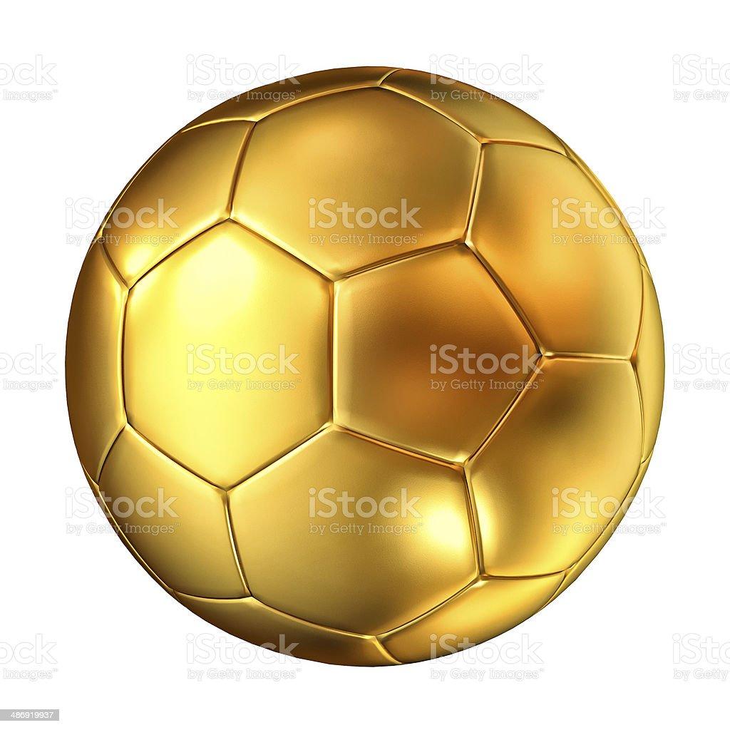 Bola de futebol dourada - foto de acervo