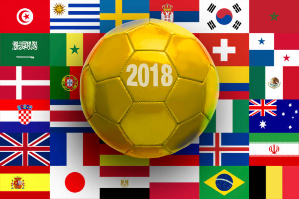 Golden soccer Ball stock photo