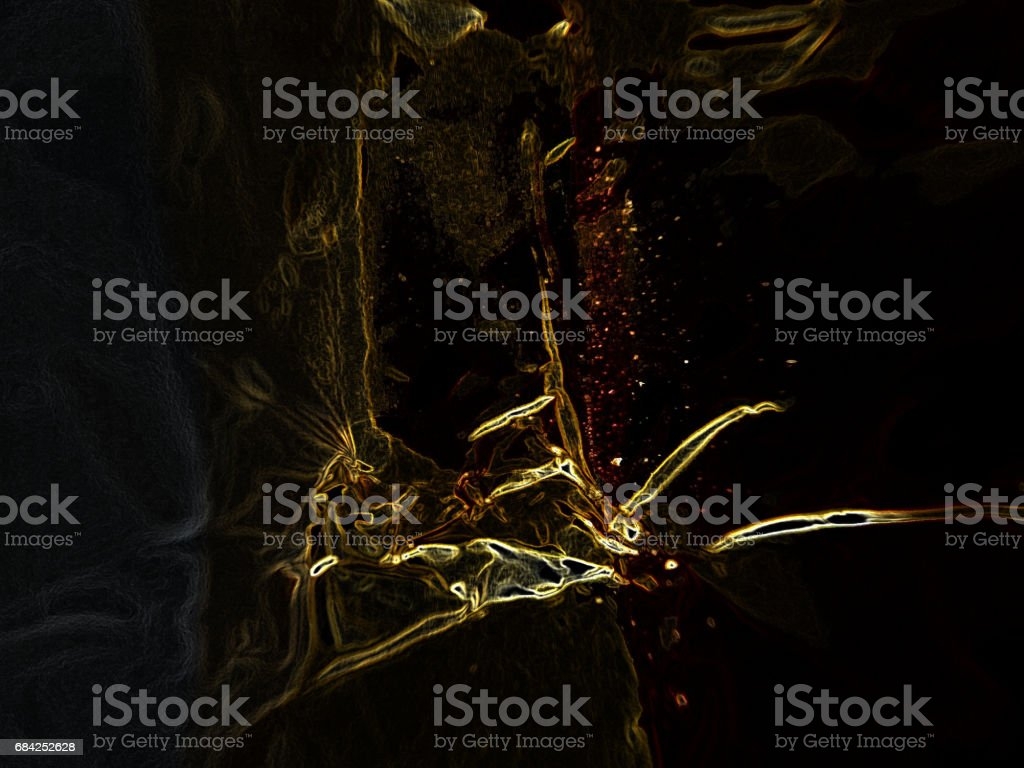 golden souls in darkness of universe royalty-free stock photo
