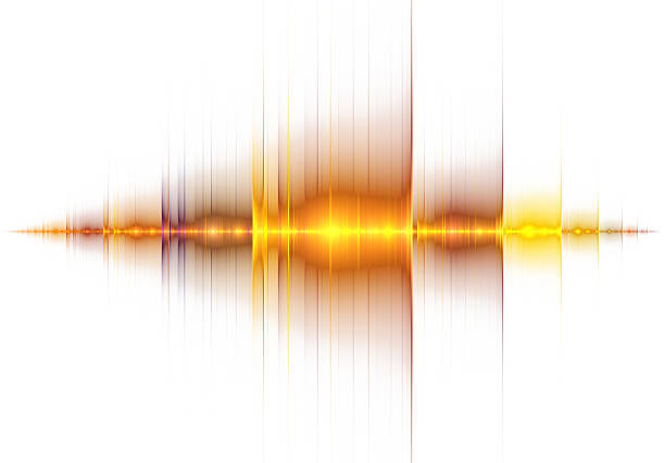 Golden sound wave stock photo