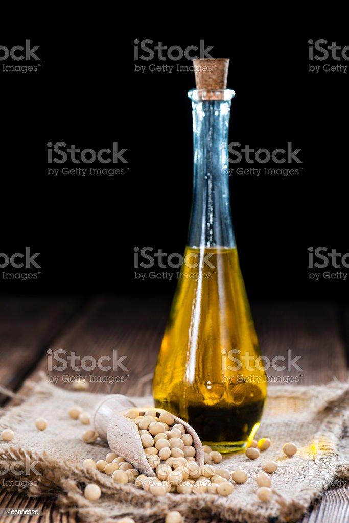 Golden Soy Oil stock photo