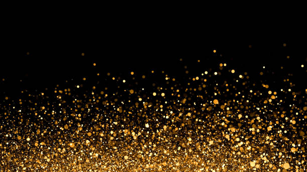 Golden sparkle background stock photo
