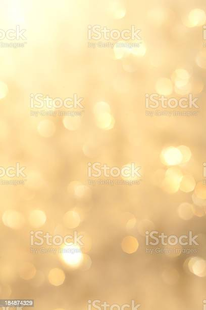 Golden Sparkling Background Stock Photo - Download Image Now