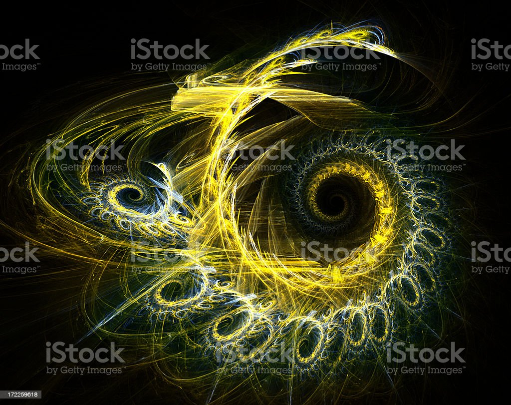 Golden spiral stock photo