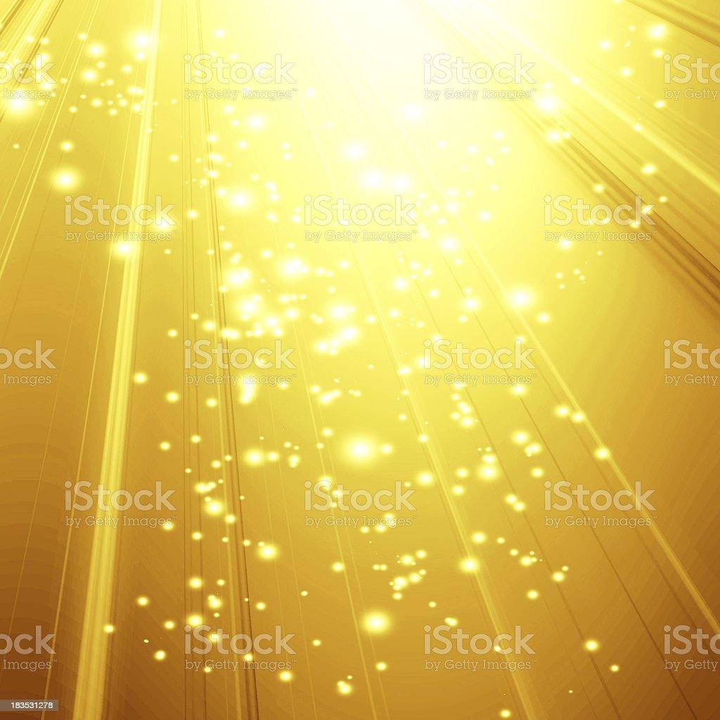 golden spotlight stock photo