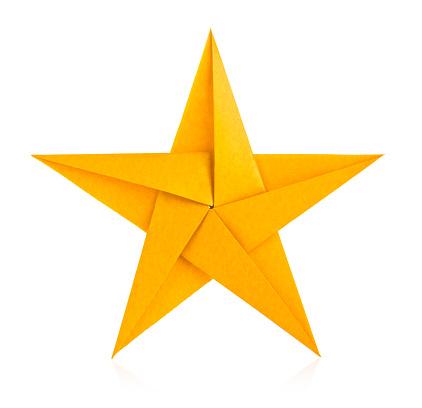 Golden star of origami