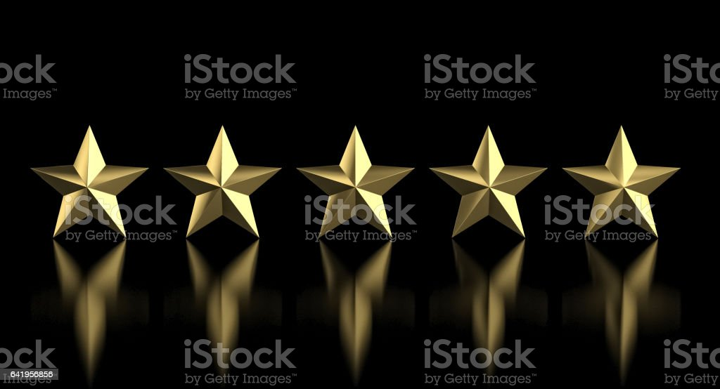 5 golden star stock photo