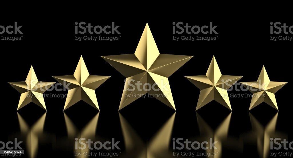 5 golden star stock photo