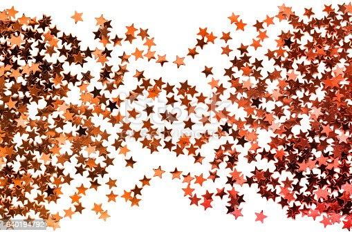 istock Golden stardust isolated 640194792