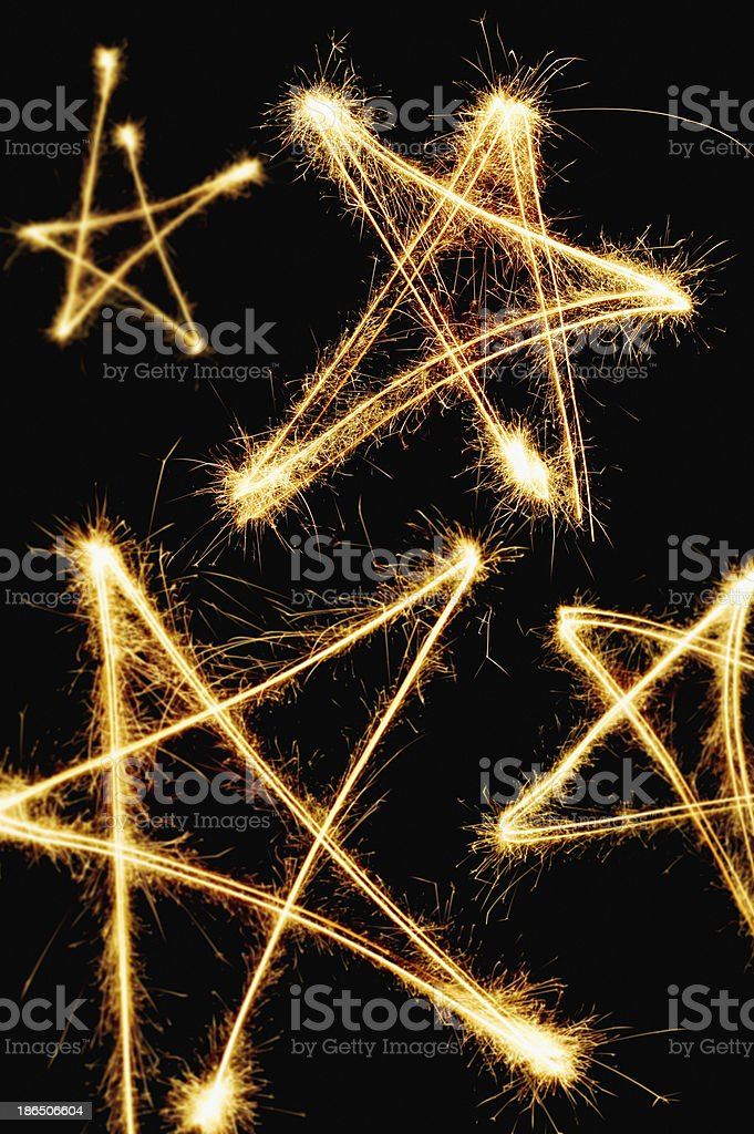 Golden stars background royalty-free stock photo
