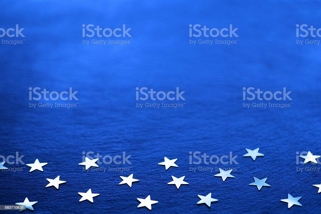 Golden stars on Slate stock photo