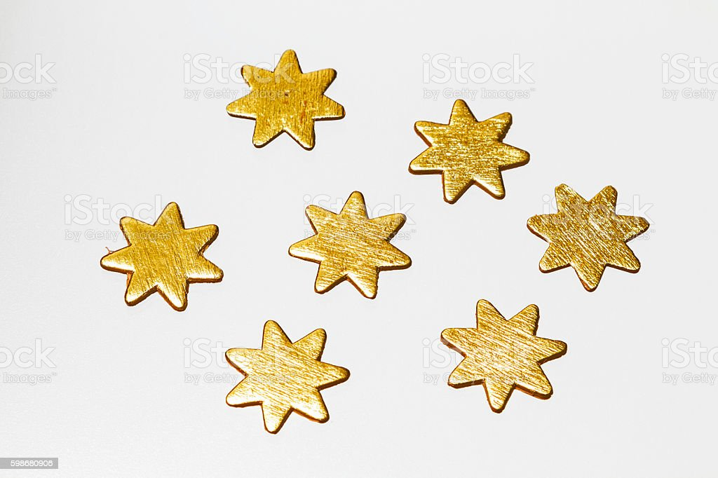 golden stars on white background - foto stock
