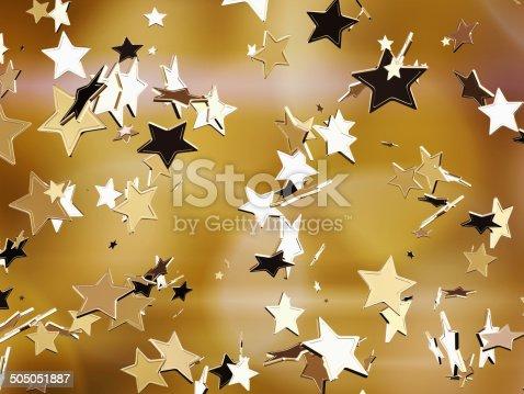 istock Golden stars. 505051887