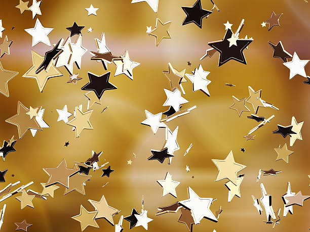 golden stars. - awards ceremony stock photos and pictures